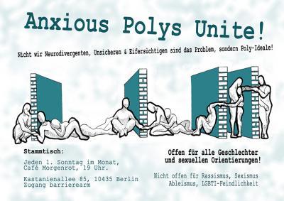 Anxious Polys Unite Stammtisch-Flyer